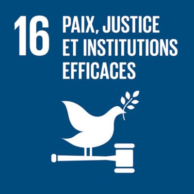 16 - Paix, justice et institutions efficaces